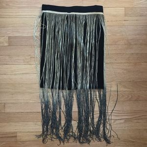 NWT Rue 21 Gold and silver tassel skirt size m